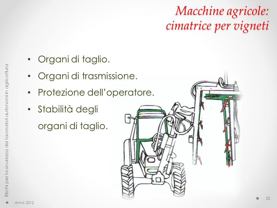 Macchine agricole: cimatrice per vigneti
