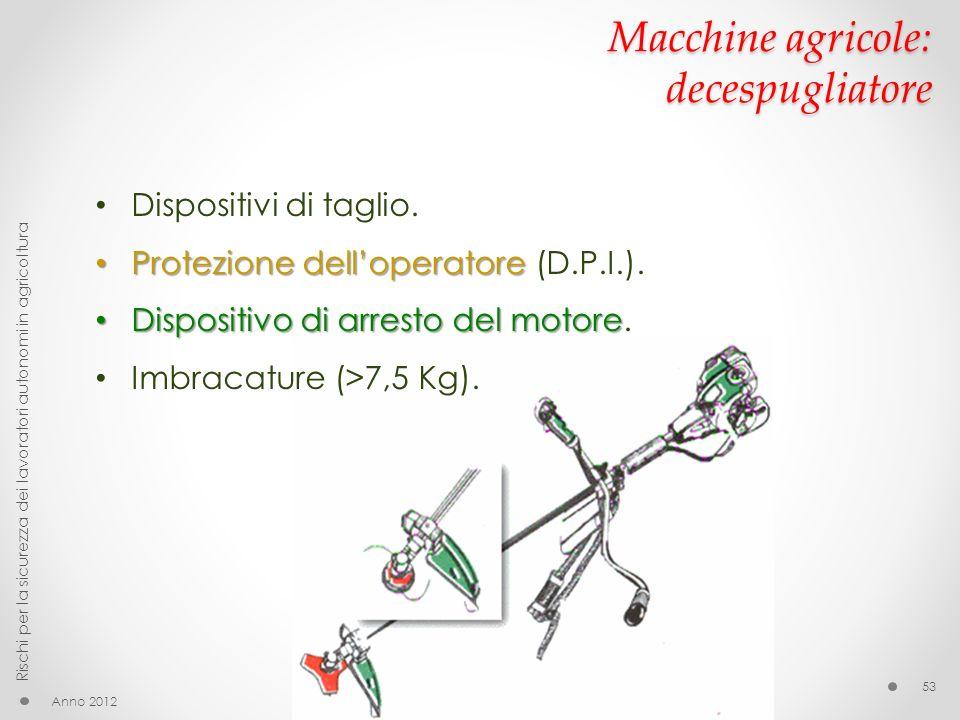 Macchine agricole: decespugliatore
