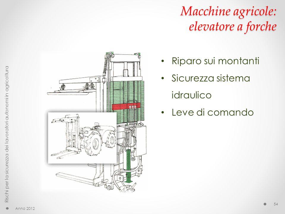 Macchine agricole: elevatore a forche