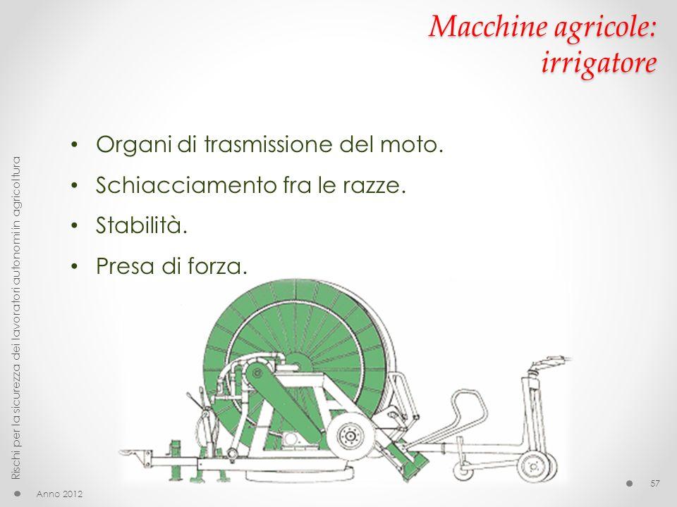 Macchine agricole: irrigatore