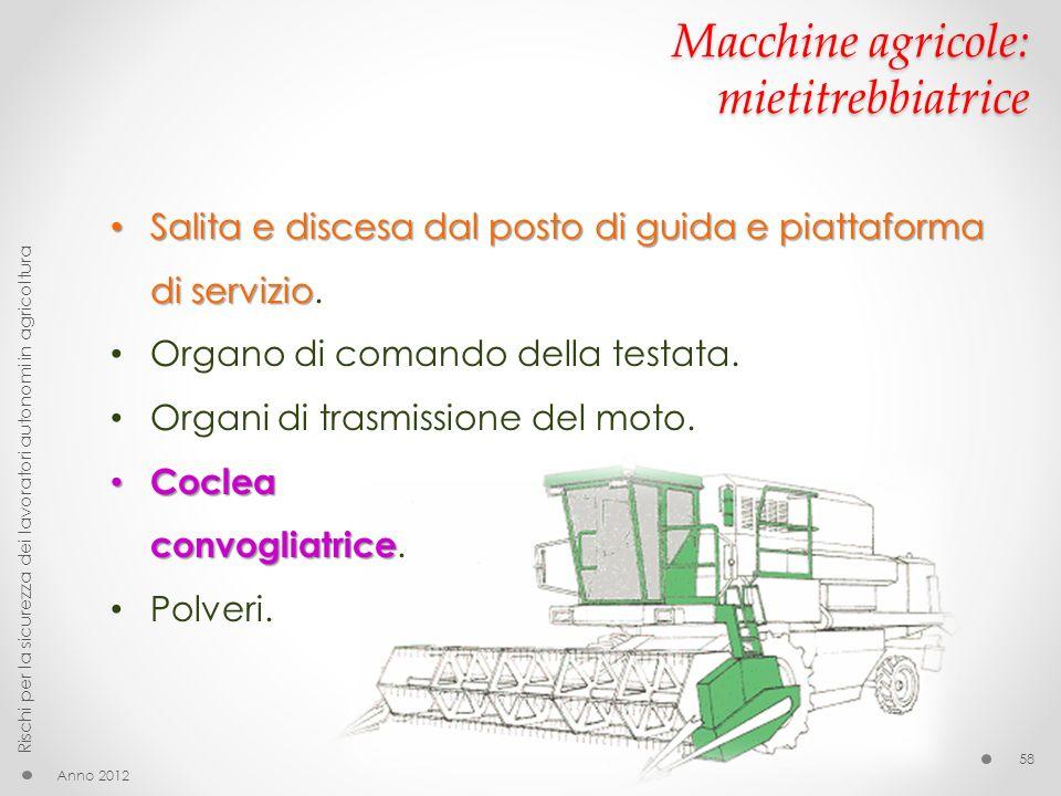 Macchine agricole: mietitrebbiatrice
