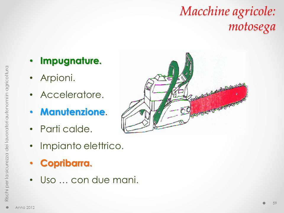 Macchine agricole: motosega