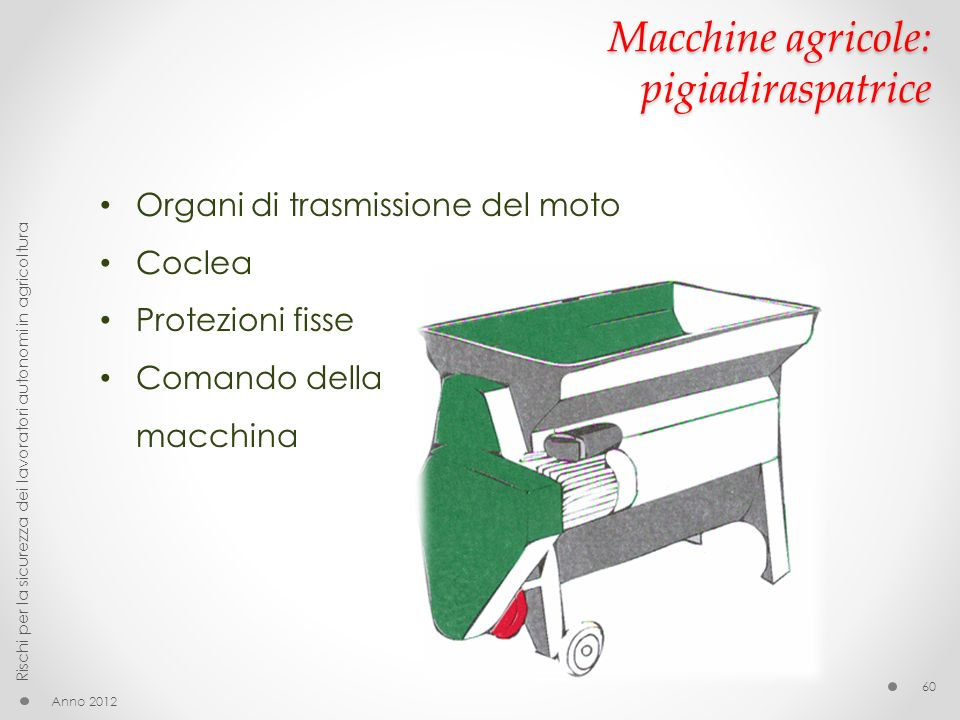 Macchine agricole: pigiadiraspatrice