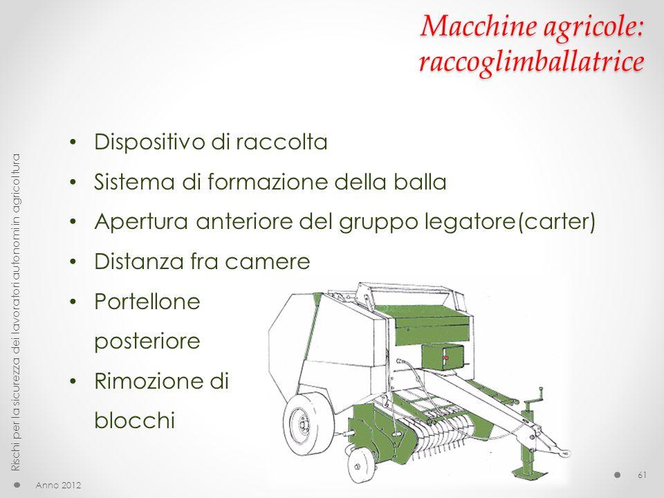 Macchine agricole: raccoglimballatrice