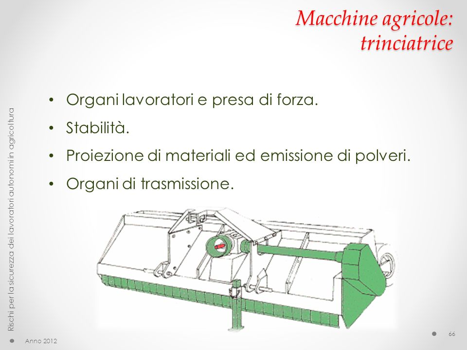 Macchine agricole: trinciatrice