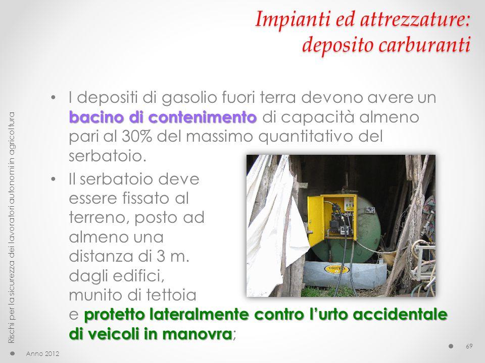 Impianti ed attrezzature: deposito carburanti