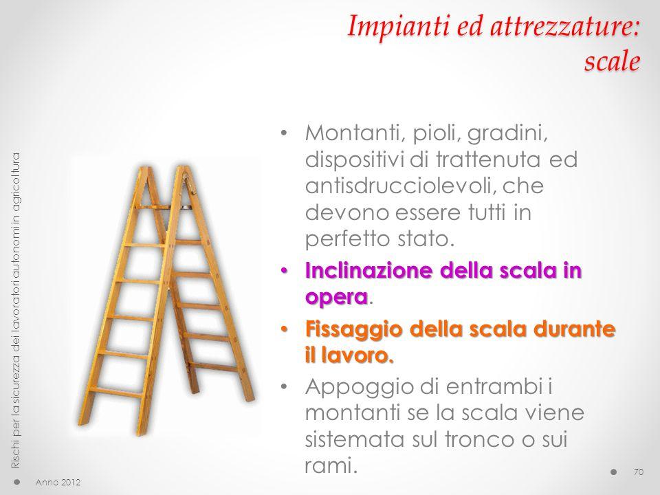 Impianti ed attrezzature: scale
