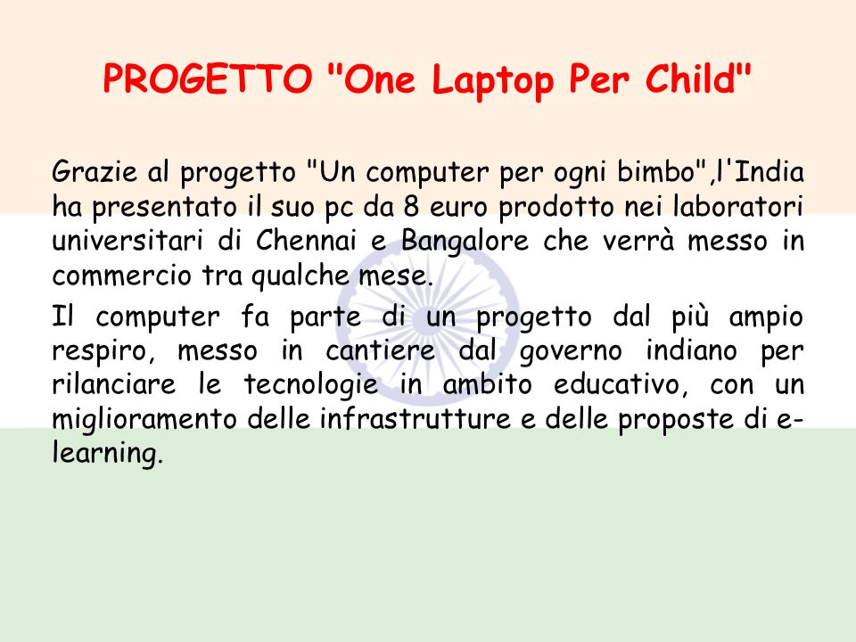 PROGETTO One Laptop Per Child