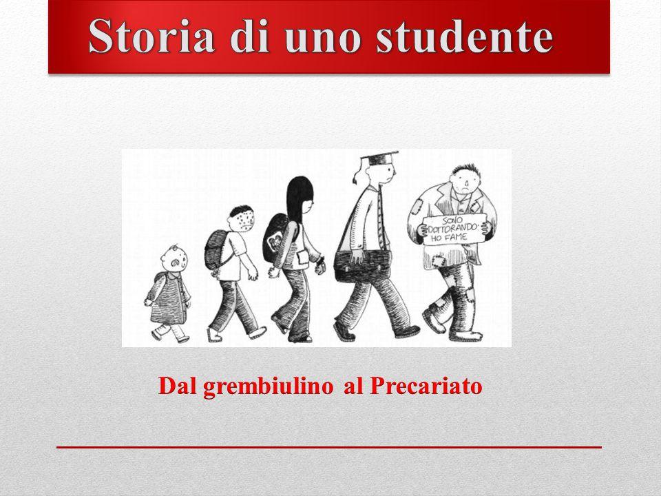 Storia di uno studente Dal grembiulino al Precariato