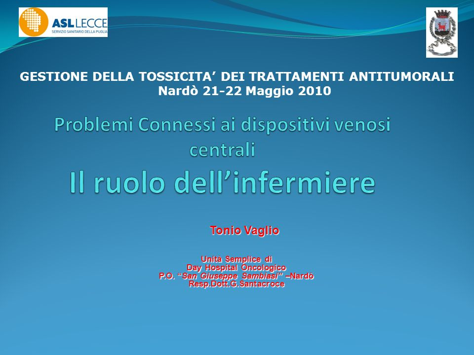 Day Hospital Oncologico P.O. San Giuseppe Sambiasi –Nardò