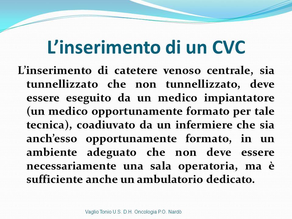 L'inserimento di un CVC