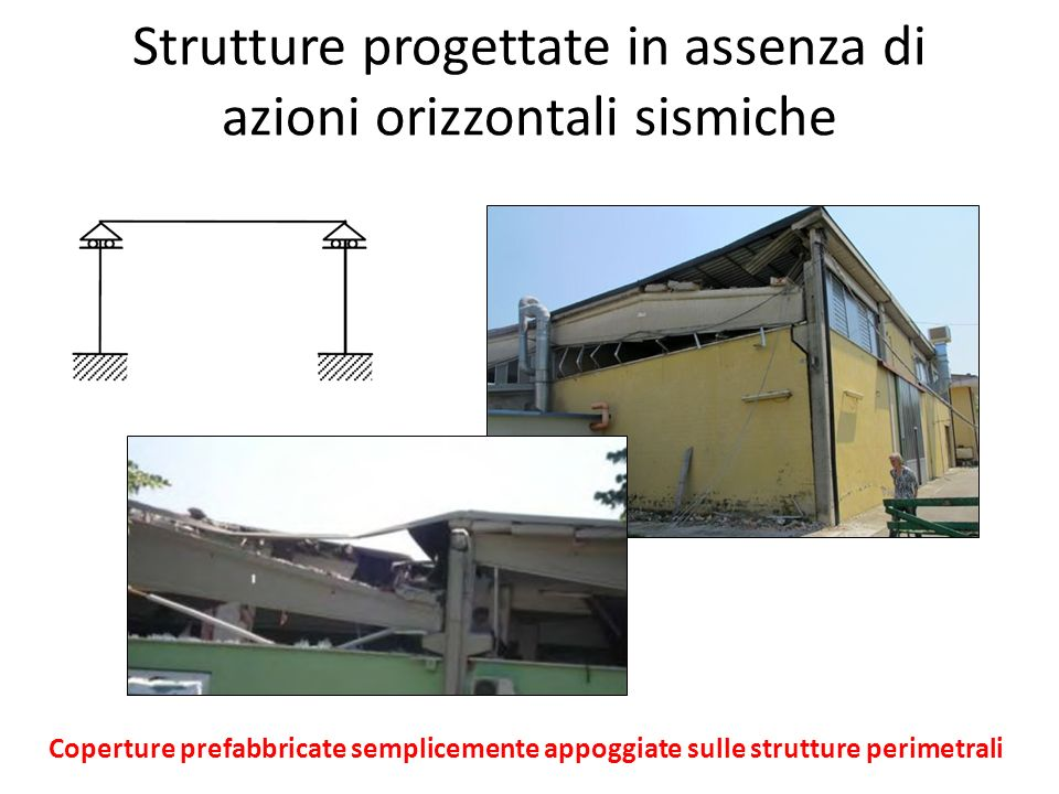 Strutture progettate in assenza di azioni orizzontali sismiche