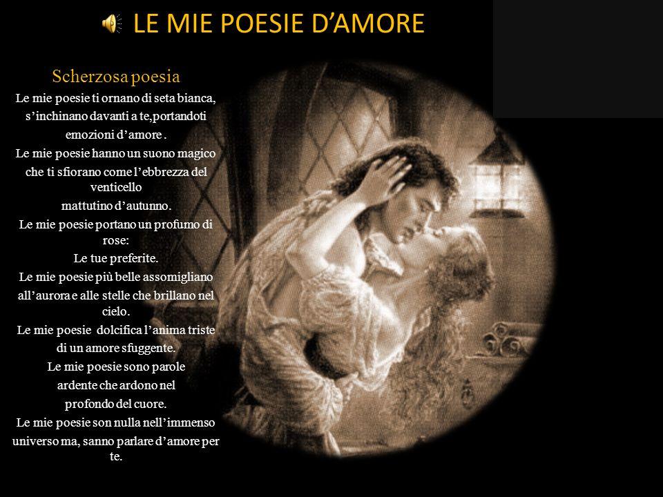 LE MIE POESIE D'AMORE Scherzosa poesia