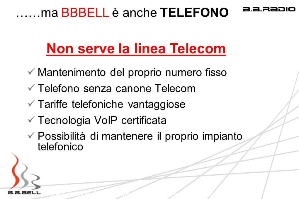 Non serve la linea Telecom