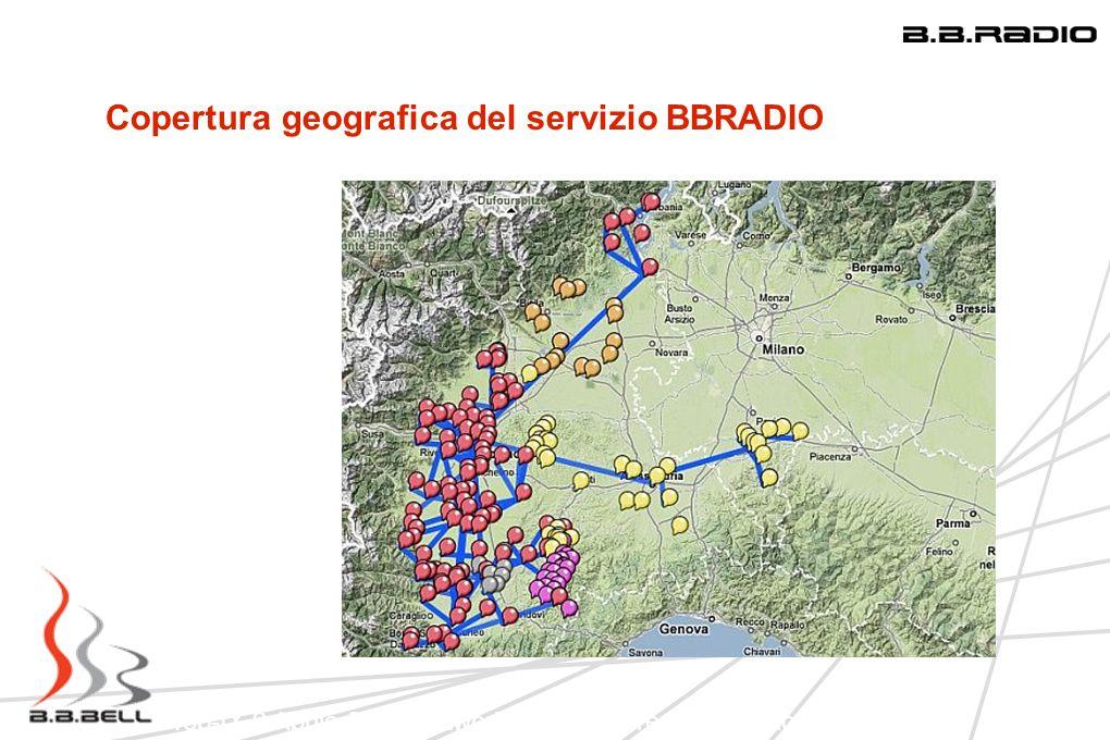 Copertura geografica del servizio BBRADIO