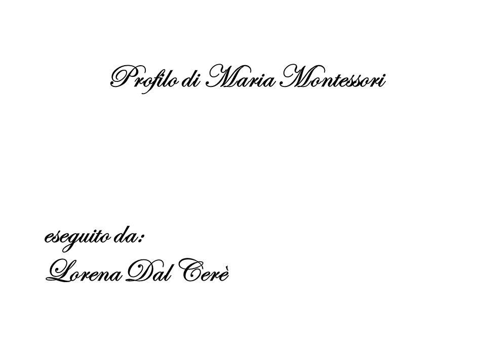 Profilo di Maria Montessori