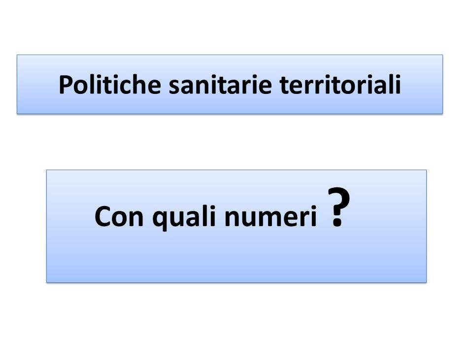 Politiche sanitarie territoriali