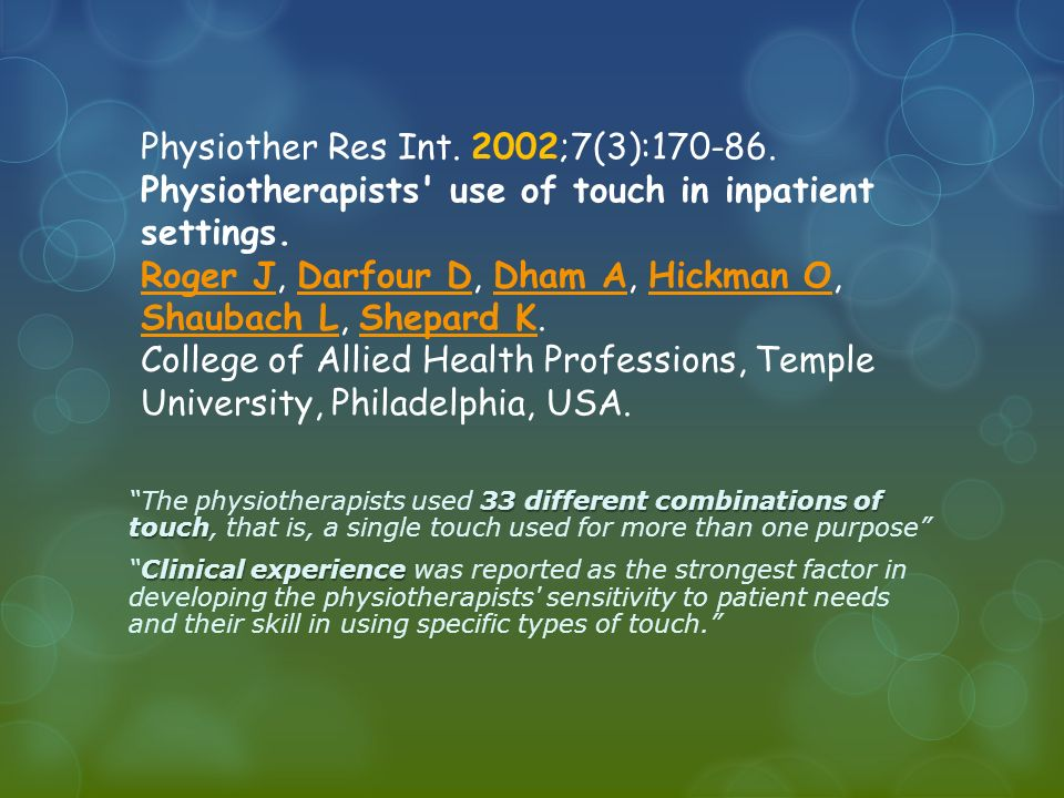 Physiother Res Int. 2002;7(3):170-86