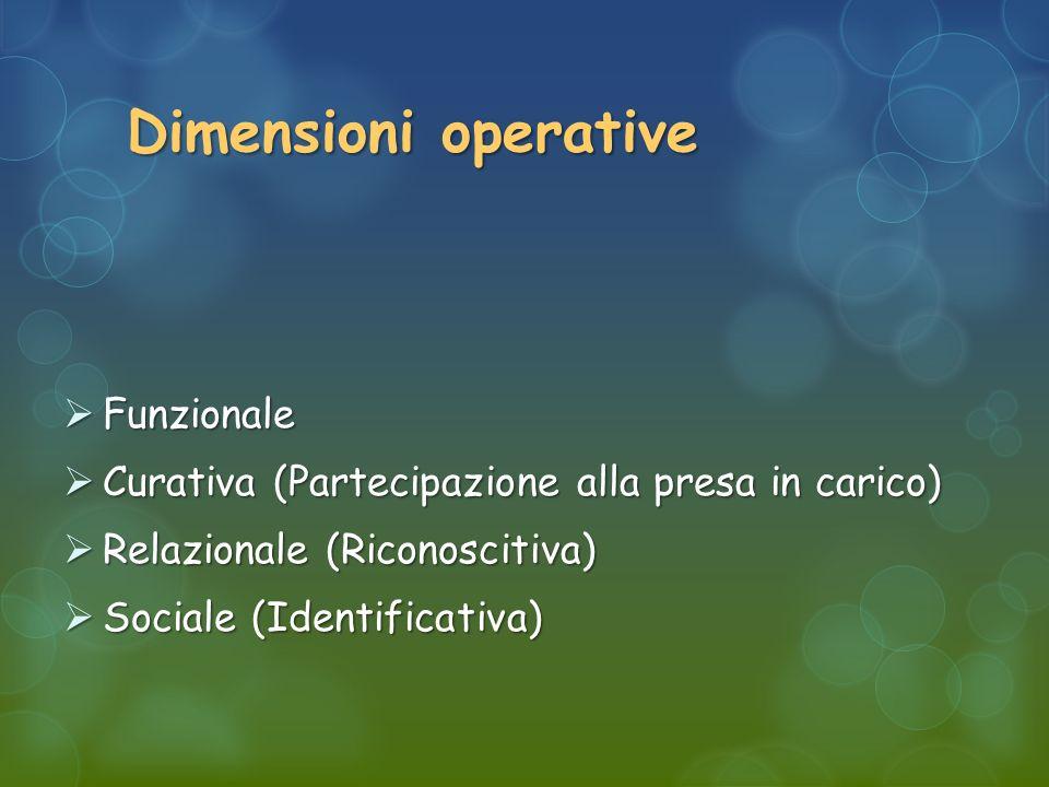 Dimensioni operative Funzionale