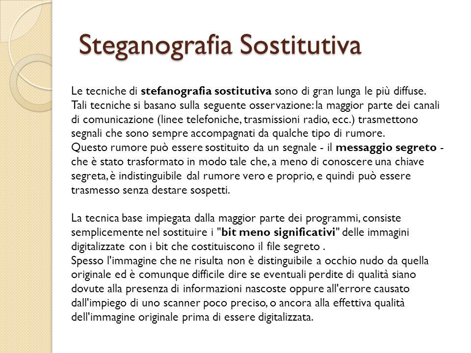 Steganografia Sostitutiva