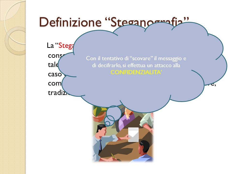 Definizione Steganografia