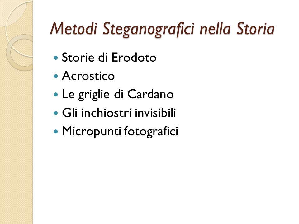 Metodi Steganografici nella Storia