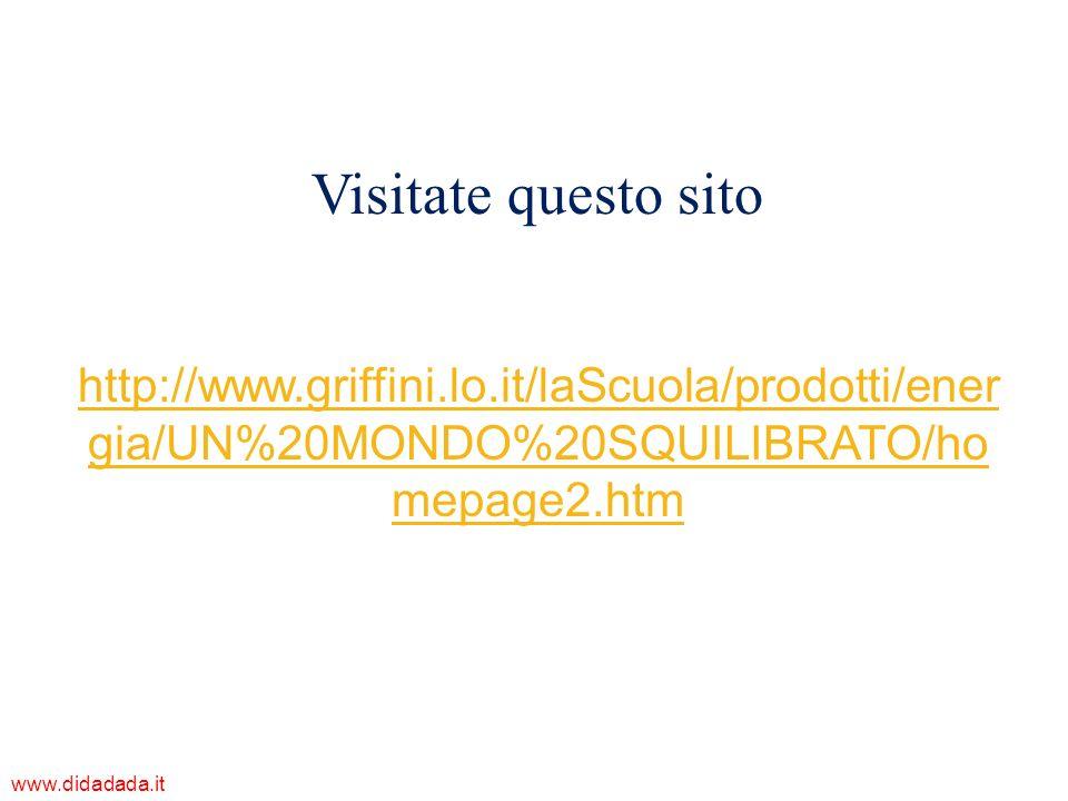 Visitate questo sitohttp://www.griffini.lo.it/laScuola/prodotti/energia/UN%20MONDO%20SQUILIBRATO/homepage2.htm.