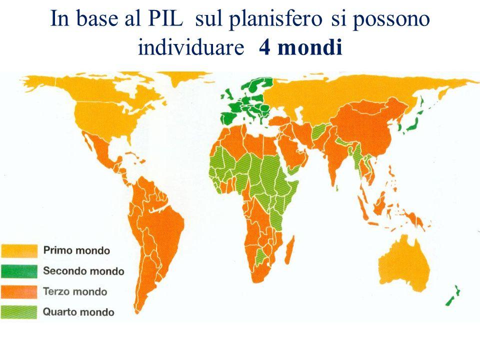 In base al PIL sul planisfero si possono individuare 4 mondi