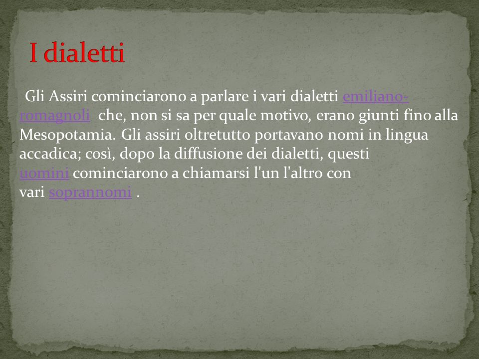 I dialetti