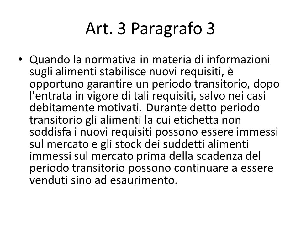 Art. 3 Paragrafo 3