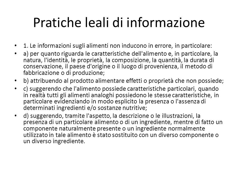 Pratiche leali di informazione