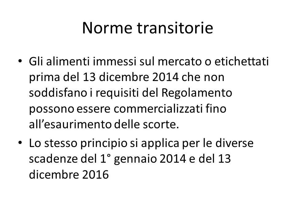 Norme transitorie