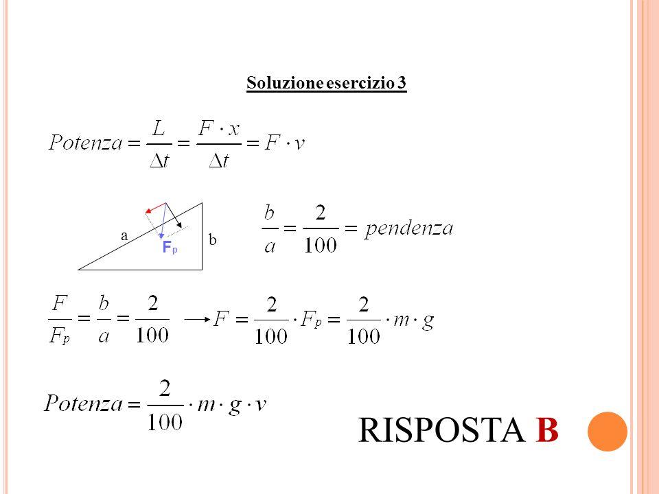 Soluzione esercizio 3 Fp a b RISPOSTA B