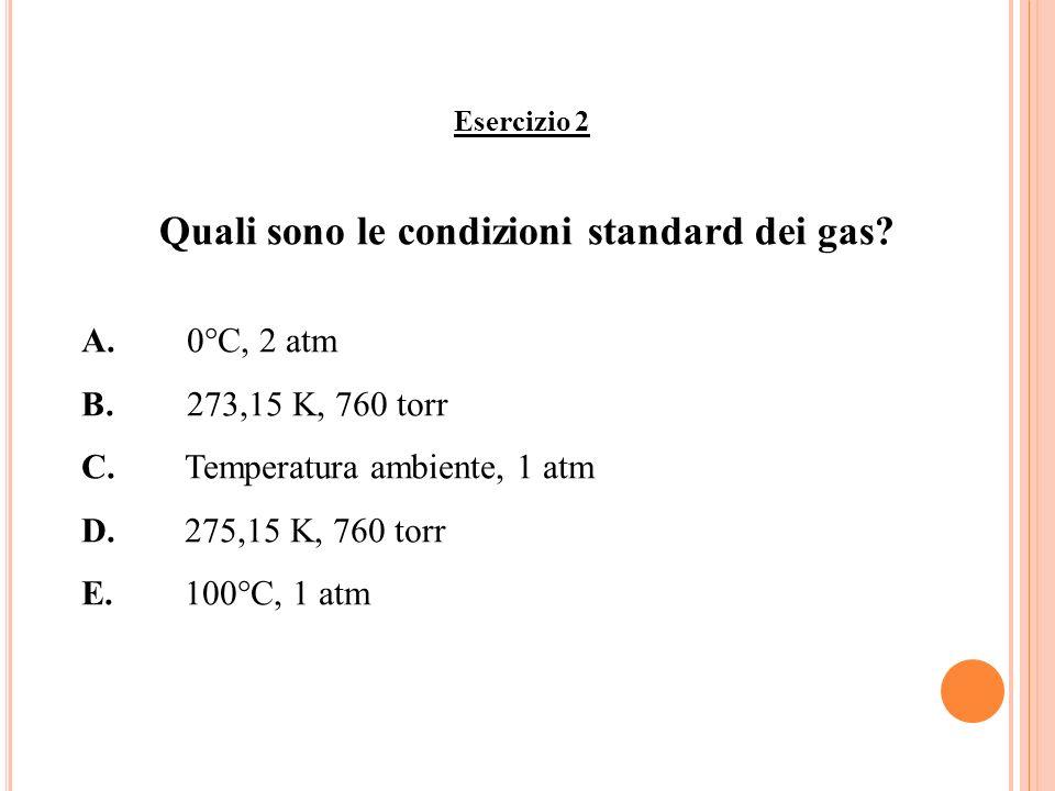 Quali sono le condizioni standard dei gas
