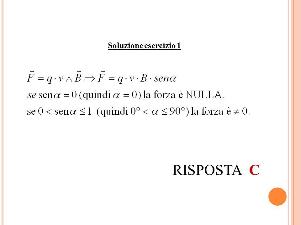 Soluzione esercizio 1 RISPOSTA C