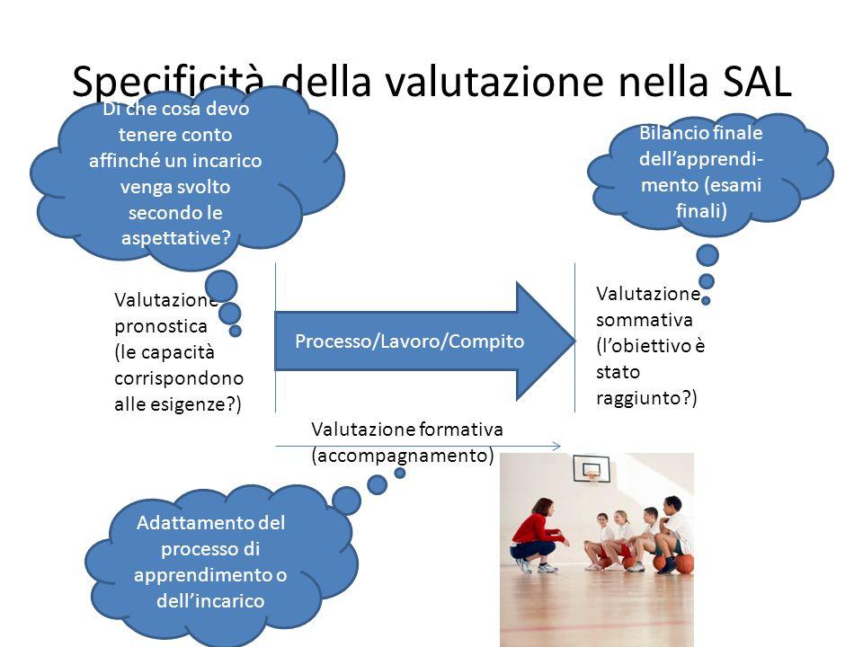 Specificità della valutazione nella SAL