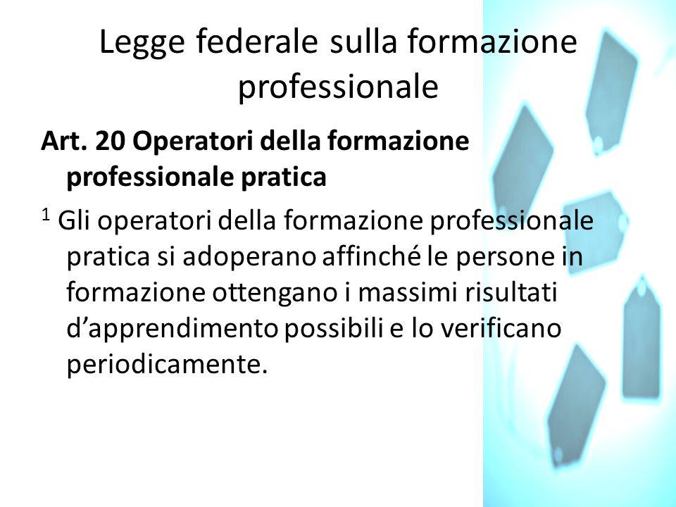 Legge federale sulla formazione professionale