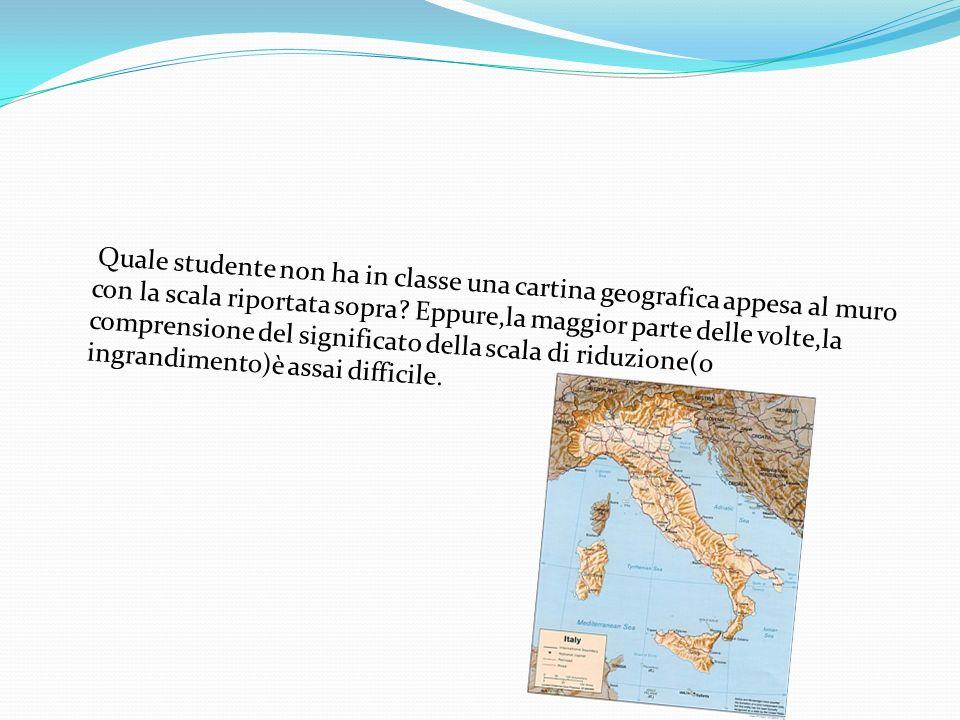 Quale studente non ha in classe una cartina geografica appesa al muro con la scala riportata sopra.