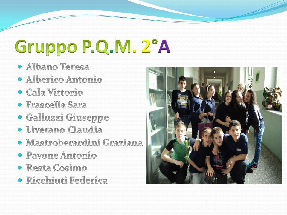 Gruppo P.Q.M. 2°A Albano Teresa Alberico Antonio Cala Vittorio