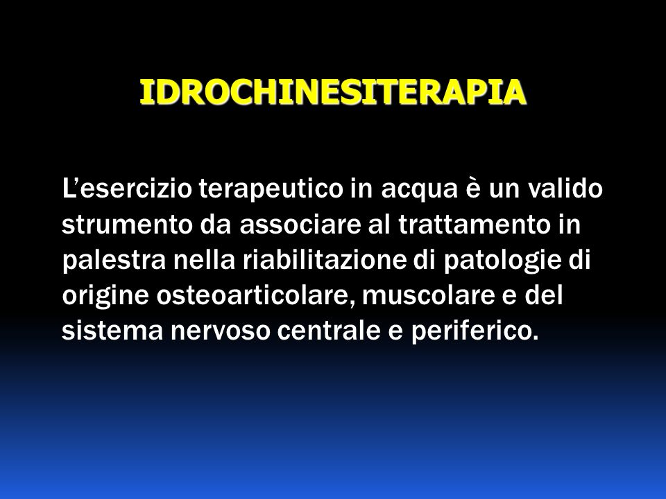 IDROCHINESITERAPIA