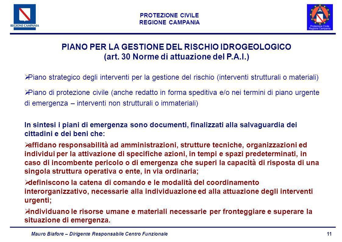 PIANO PER LA GESTIONE DEL RISCHIO IDROGEOLOGICO