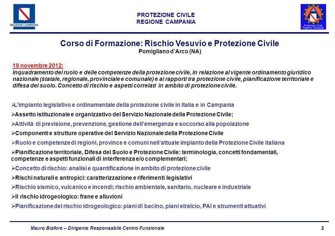 Corso di Formazione: Rischio Vesuvio e Protezione Civile
