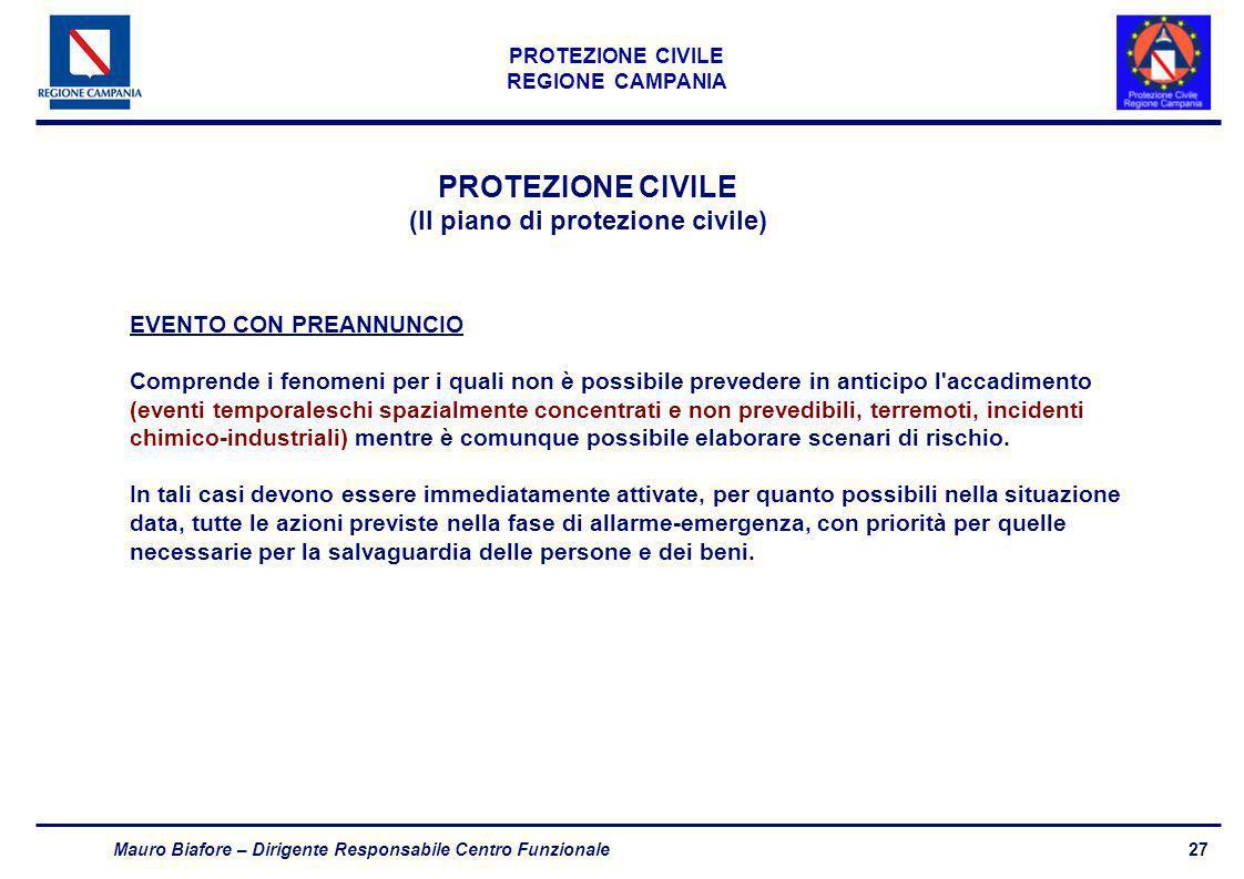 (Il piano di protezione civile)