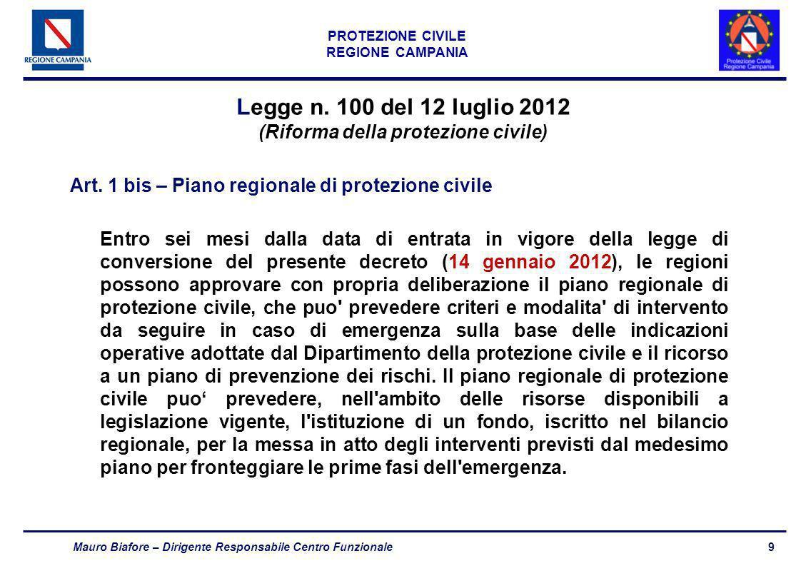 Legge n. 100 del 12 luglio 2012 (Riforma della protezione civile)