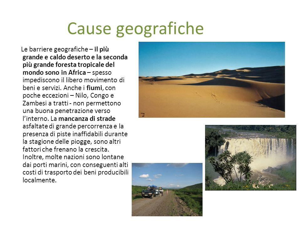Cause geografiche