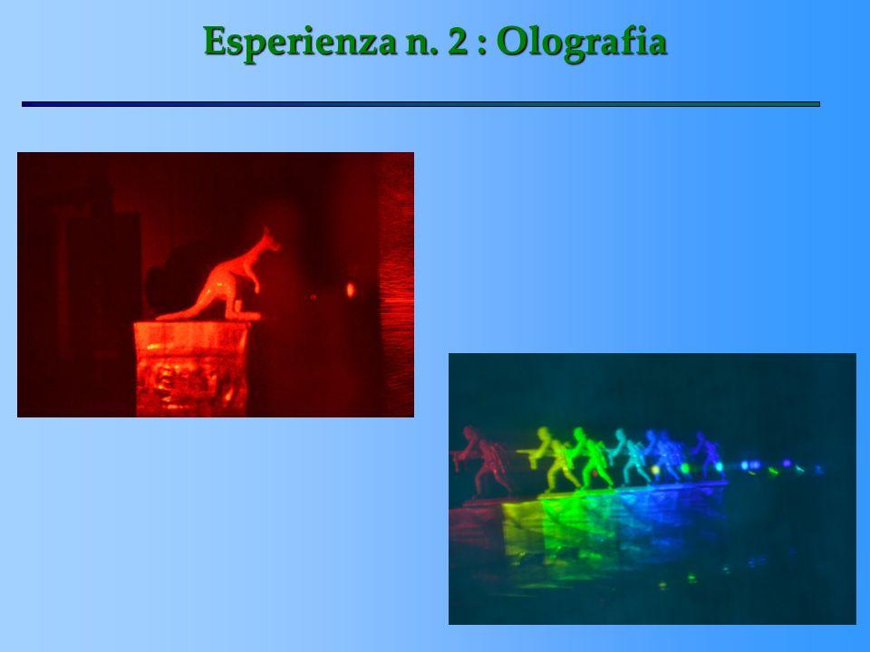 Esperienza n. 2 : Olografia