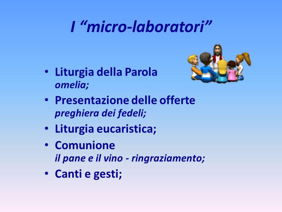 I micro-laboratori Liturgia della Parola omelia;