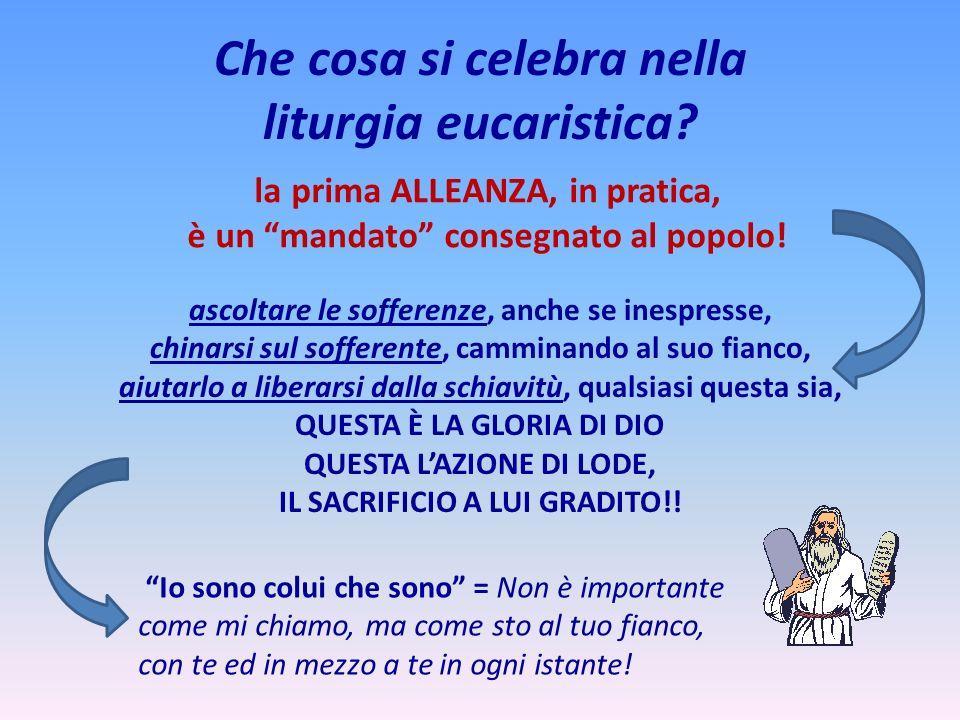 Che cosa si celebra nella liturgia eucaristica