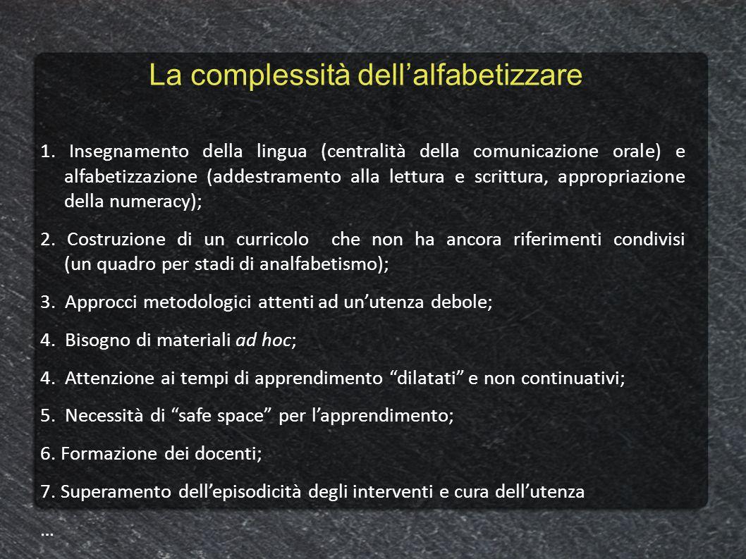La complessità dell'alfabetizzare