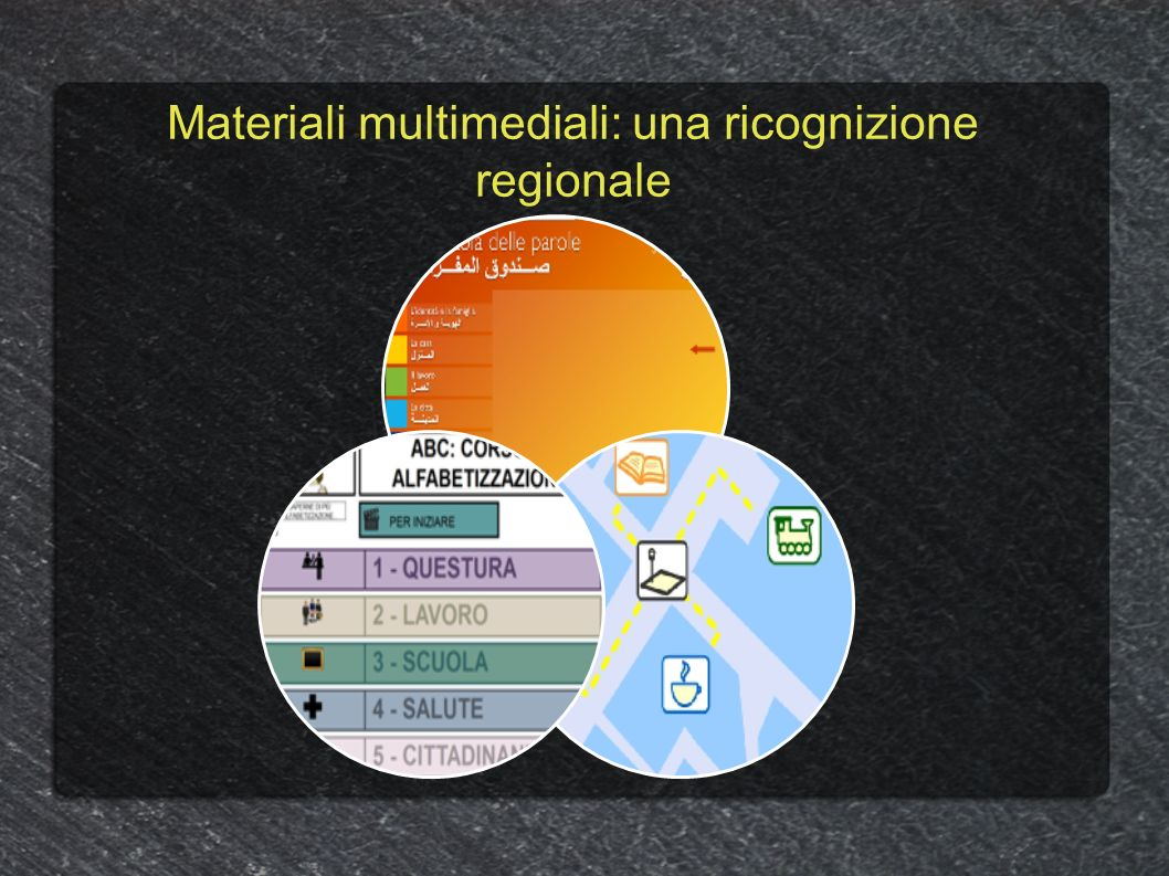 Materiali multimediali: una ricognizione regionale